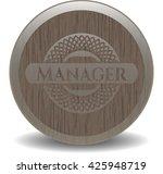 manager retro wood emblem   Shutterstock .eps vector #425948719