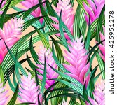 tropical pattern with pastel... | Shutterstock .eps vector #425951278