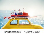 3d rendering of holiday on the... | Shutterstock . vector #425952130