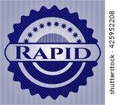 rapid emblem with denim high... | Shutterstock .eps vector #425952208