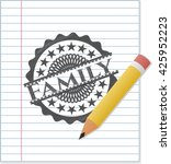 family draw with pencil effect | Shutterstock .eps vector #425952223