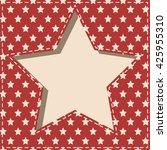 american patriotic paper cut... | Shutterstock .eps vector #425955310