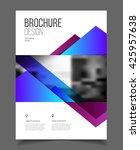 business brochure design.... | Shutterstock .eps vector #425957638