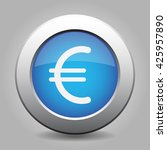blue metal button   with white... | Shutterstock .eps vector #425957890