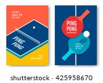ping pong posters design. table ... | Shutterstock .eps vector #425958670