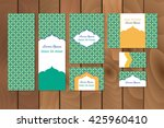 business set or menu set with... | Shutterstock .eps vector #425960410