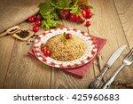 traditional turkish ramadan...   Shutterstock . vector #425960683