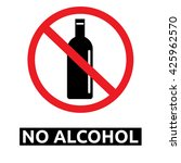 no alcohol sign | Shutterstock .eps vector #425962570