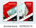 red cover design for annual... | Shutterstock .eps vector #425965174