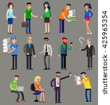 vector detailed characters... | Shutterstock .eps vector #425965354