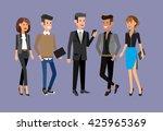 vector detailed characters... | Shutterstock .eps vector #425965369