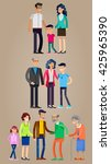 detailed character people... | Shutterstock .eps vector #425965390
