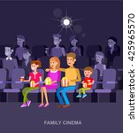 family cinema movie poster or... | Shutterstock .eps vector #425965570