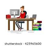 vector detailed character... | Shutterstock .eps vector #425965600