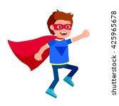 cute vector character child.... | Shutterstock .eps vector #425965678