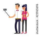 vector detailed character make... | Shutterstock .eps vector #425965696