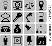 16 icon set. business icons.... | Shutterstock .eps vector #425969734