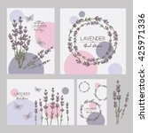 backgrounds with with lavender...   Shutterstock .eps vector #425971336