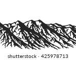 mountain range isolated on... | Shutterstock . vector #425978713