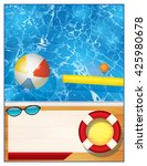 a blank swimming pool...   Shutterstock .eps vector #425980678