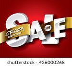 super sale concept with label... | Shutterstock .eps vector #426000268