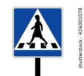 sweden pedestrian crossing road ... | Shutterstock .eps vector #426001078