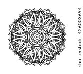mandala. ethnic decorative... | Shutterstock .eps vector #426003694