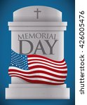 Tombstone With Memorial Day...