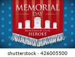 honorific banner with fringes... | Shutterstock .eps vector #426005500