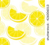 big and halved lemon slices.... | Shutterstock .eps vector #426006013