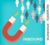 inbound marketing magnet... | Shutterstock .eps vector #426009250