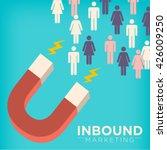 inbound marketing magnet... | Shutterstock .eps vector #426009250