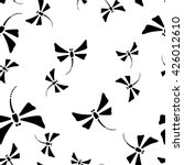 vector black and white seamless ... | Shutterstock .eps vector #426012610