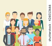 set of business people ... | Shutterstock .eps vector #426013666
