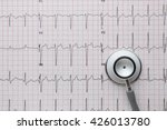 Stethoscope On The Ecg. Medica...