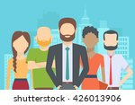 set of business people ... | Shutterstock .eps vector #426013906