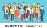 set of business people ... | Shutterstock .eps vector #426014434