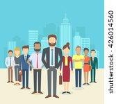 set of business people ... | Shutterstock .eps vector #426014560