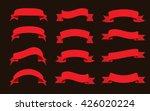 vector ribbon banners.set of... | Shutterstock .eps vector #426020224