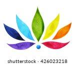 7 color of chakra sign symbol ... | Shutterstock . vector #426023218