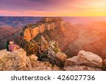 lens flare effect  a group of... | Shutterstock . vector #426027736