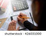 the girl the designer ... | Shutterstock . vector #426031000