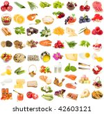 a large collection set of food  ... | Shutterstock . vector #42603121