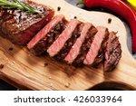 Grilled Striploin Sliced Steak...