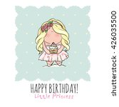 happy birthday poster in cute... | Shutterstock .eps vector #426035500