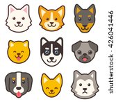 cartoon dog faces set.... | Shutterstock .eps vector #426041446