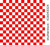 red and white checkered... | Shutterstock . vector #426043324