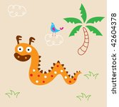 cute dragon greeting card | Shutterstock .eps vector #42604378