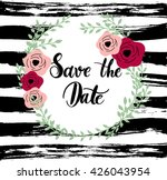 save the date invitation with...   Shutterstock .eps vector #426043954