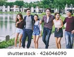 three young asian couple... | Shutterstock . vector #426046090